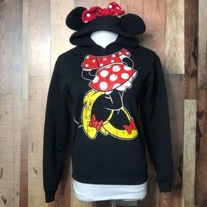 Disney Parks Minnie Mouse Hoodie with Ears